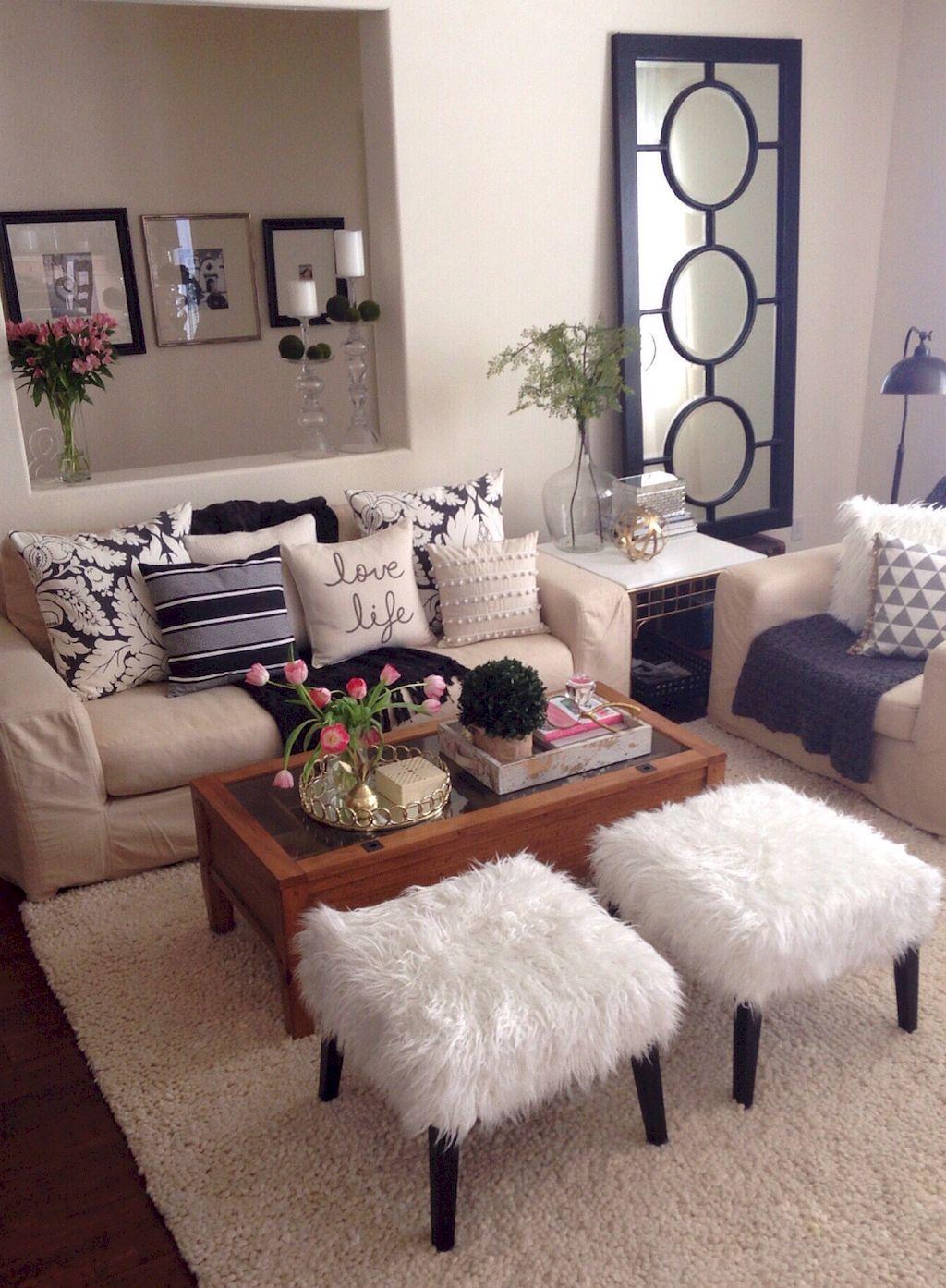 Adorable 50 Apartment Living Room Decorating Ideas Https