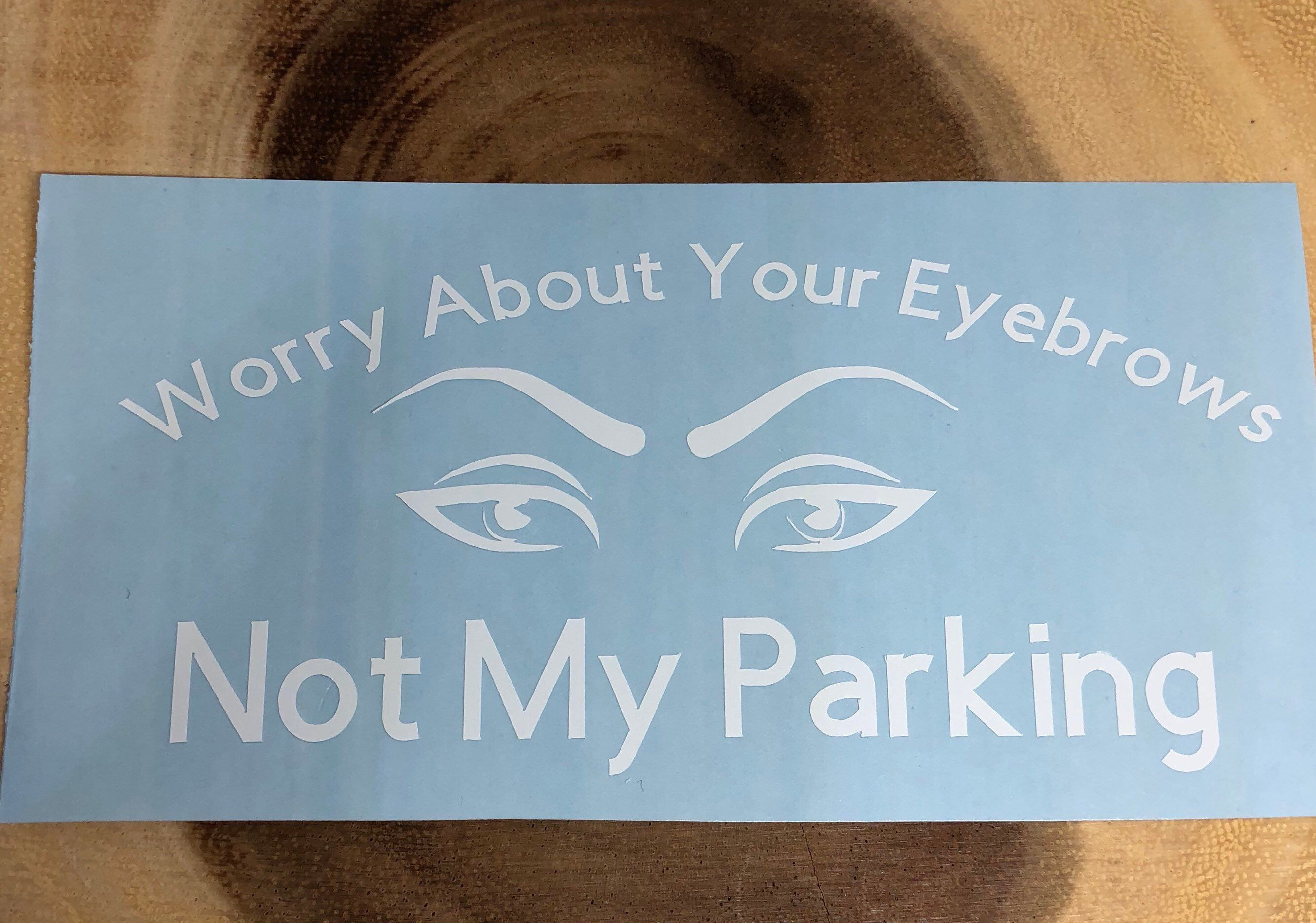 Excited To Share The Latest Addition To My Etsy Shop Eyebrow Car Decal Decal Vinyl Sticker Car Stickers Decals Vinyl Decals Vinyl Sticker Diy Vanity [ 1872 x 2668 Pixel ]