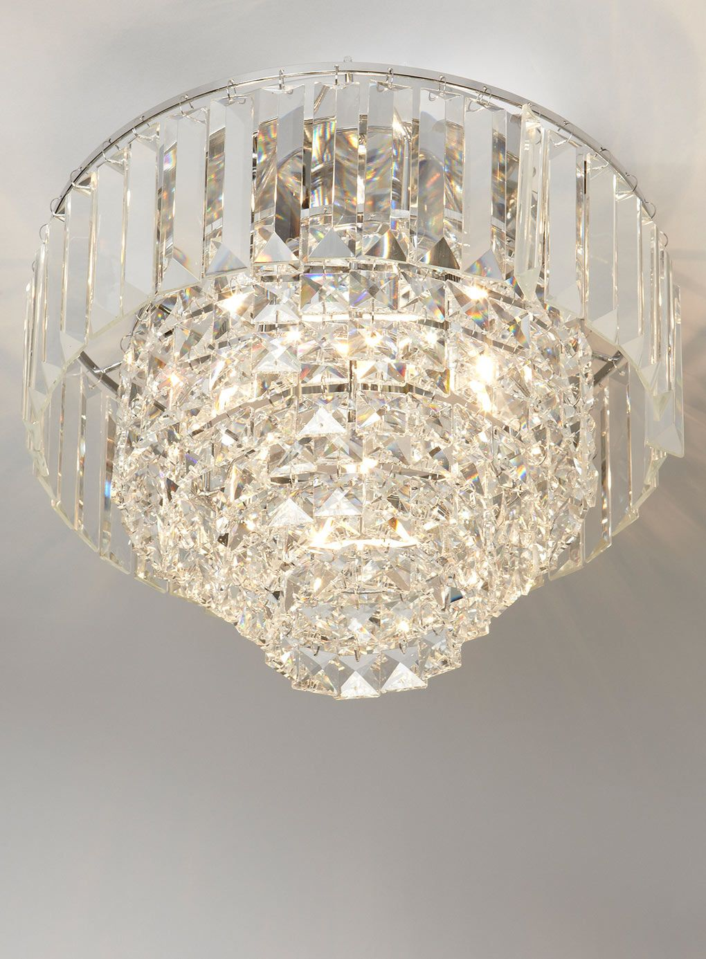 Bedroom Ceiling Lights Bhs : Chrome paladina crystal flush ceiling lights lighting