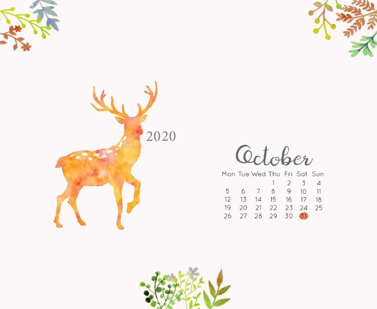 October 2020 Desktop Calendar Wallpaper In 2020 Calendar Wallpaper October Calendar Wallpaper October Wallpaper