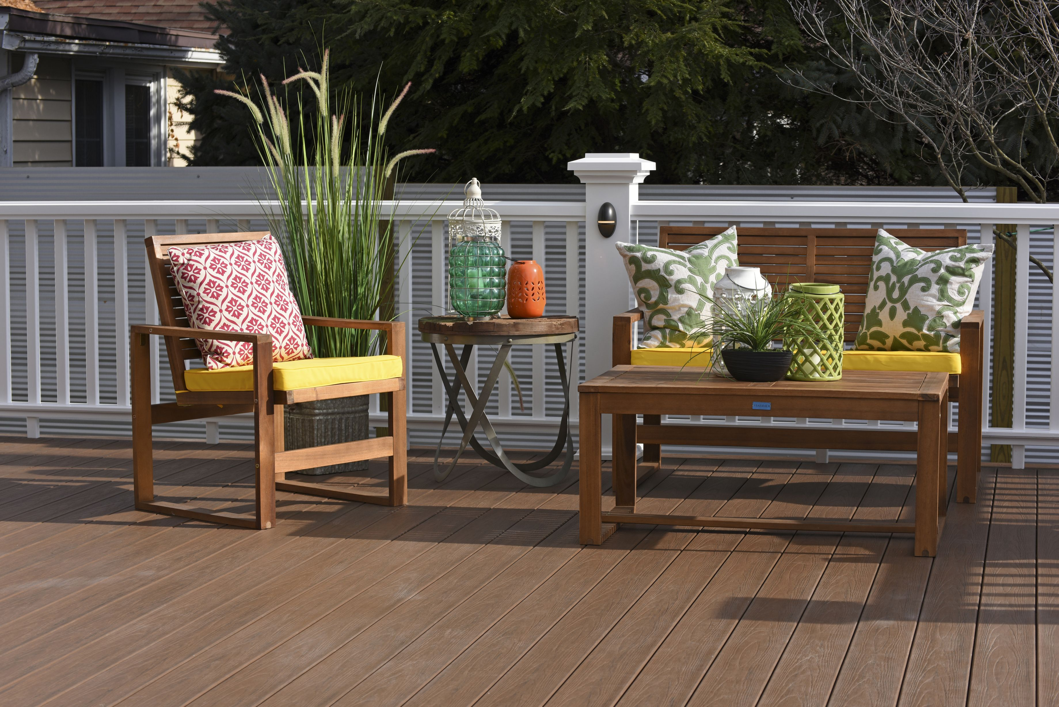 Deck Makeover After Shot: TimberTech Tropical Collection Deck In Antique  Palm.