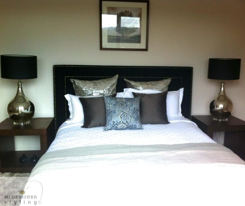 Master Bedroom Staging Ideas: Walker Drive, Masterbedroom #chevron #interiors #design