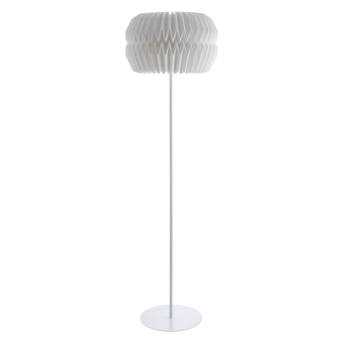 Unique white floor lamps - Kasha Light Grey Textured Fabric Footstool