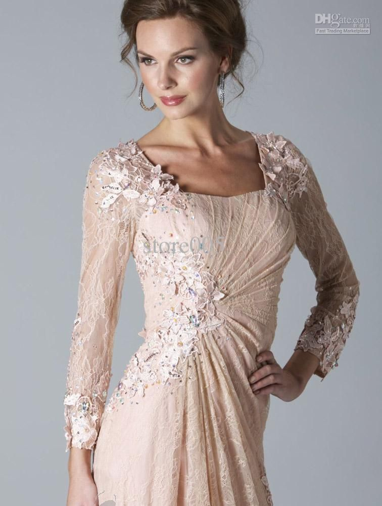 Gorgeous Pink Dress For Mothers Brides Long Sleeve Formal Dresses Evening Beads Lace Mother Of The Bride 2015 Floor Length Prom Gowns M1421 Lilac Mother Of The Mother Of The