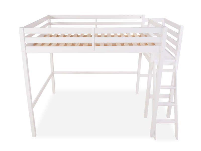 lit mezzanine 140x200 cm melody coloris blanc vente de lit enfant conforama id es d co. Black Bedroom Furniture Sets. Home Design Ideas