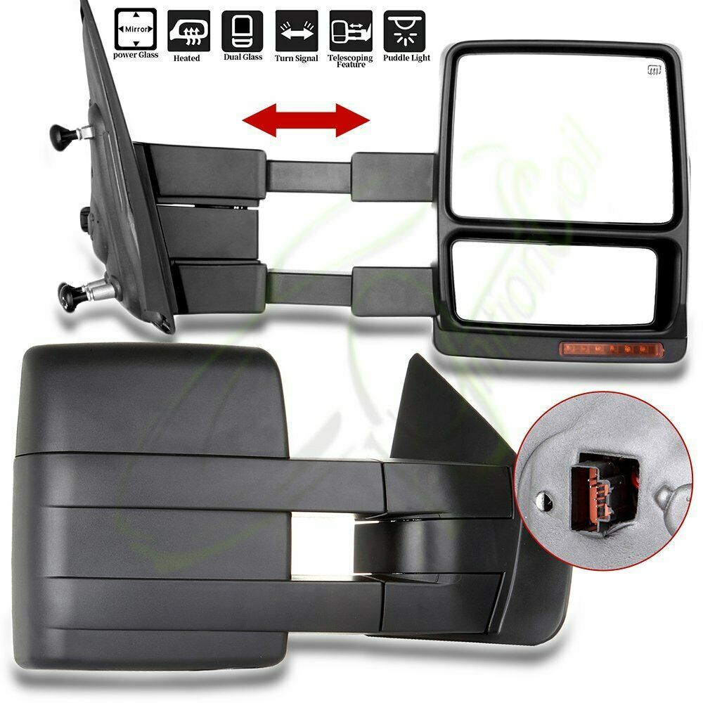 Sponsored Ebay Fits 2004 14 Ford F 150 Power Heated Puddle Signal Light Tow Side Mirrors Pair Ford F150 Side Mirror Towing