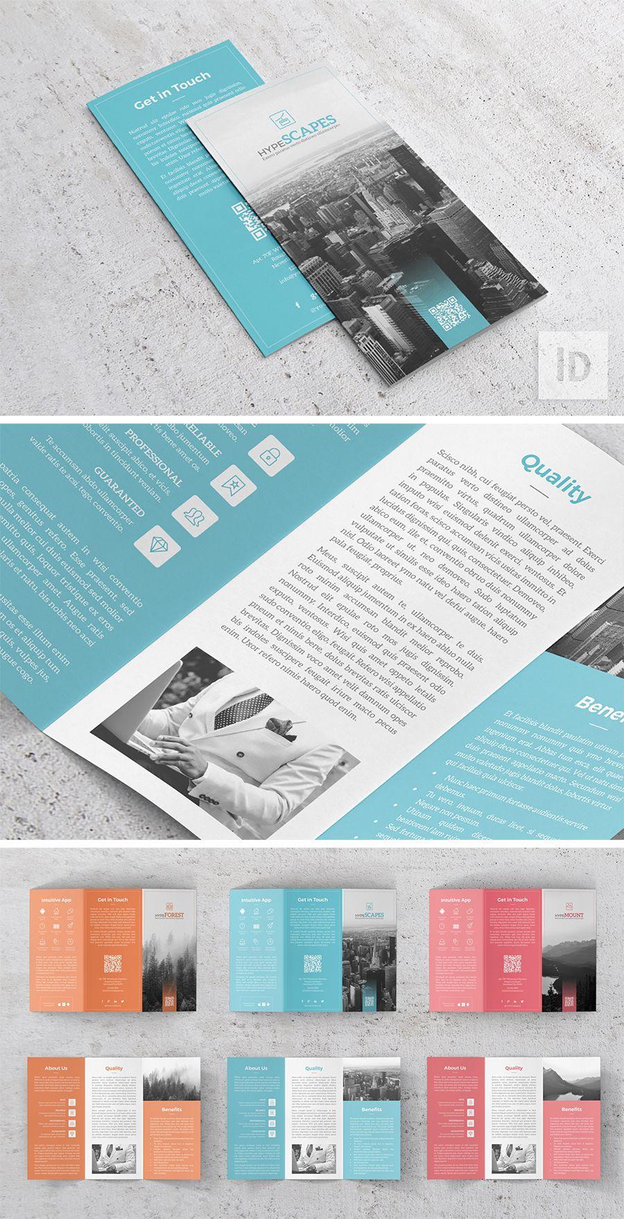 Hype App Trifold Template Templates Brochure Template