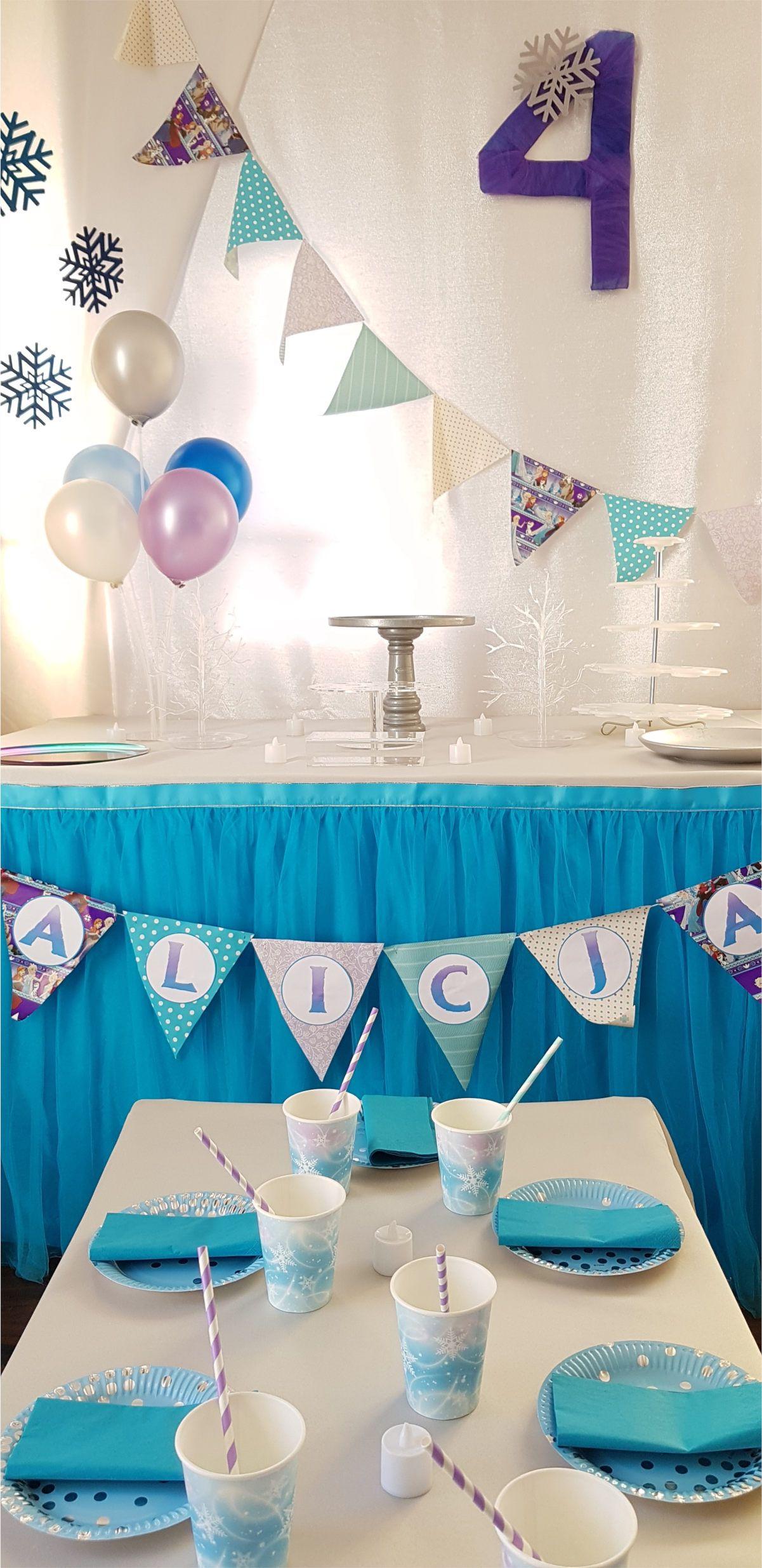 Stylizacja Przyjecia Urodzinowego W Stylu Krainy Lodu Urodziny Z