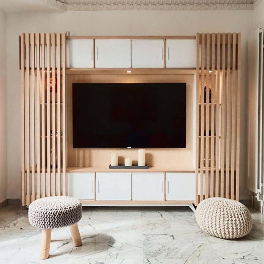 Meuble Tv Style Scandinave Un Projet De Julien Devaux En 2020 Meuble Tv Style Scandinave Mobilier De Salon Meuble Tv