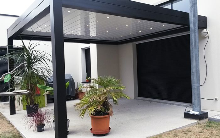 pergola bioclimatique en alu jardin et terrasse pinterest pergola pergola bioclimatique. Black Bedroom Furniture Sets. Home Design Ideas