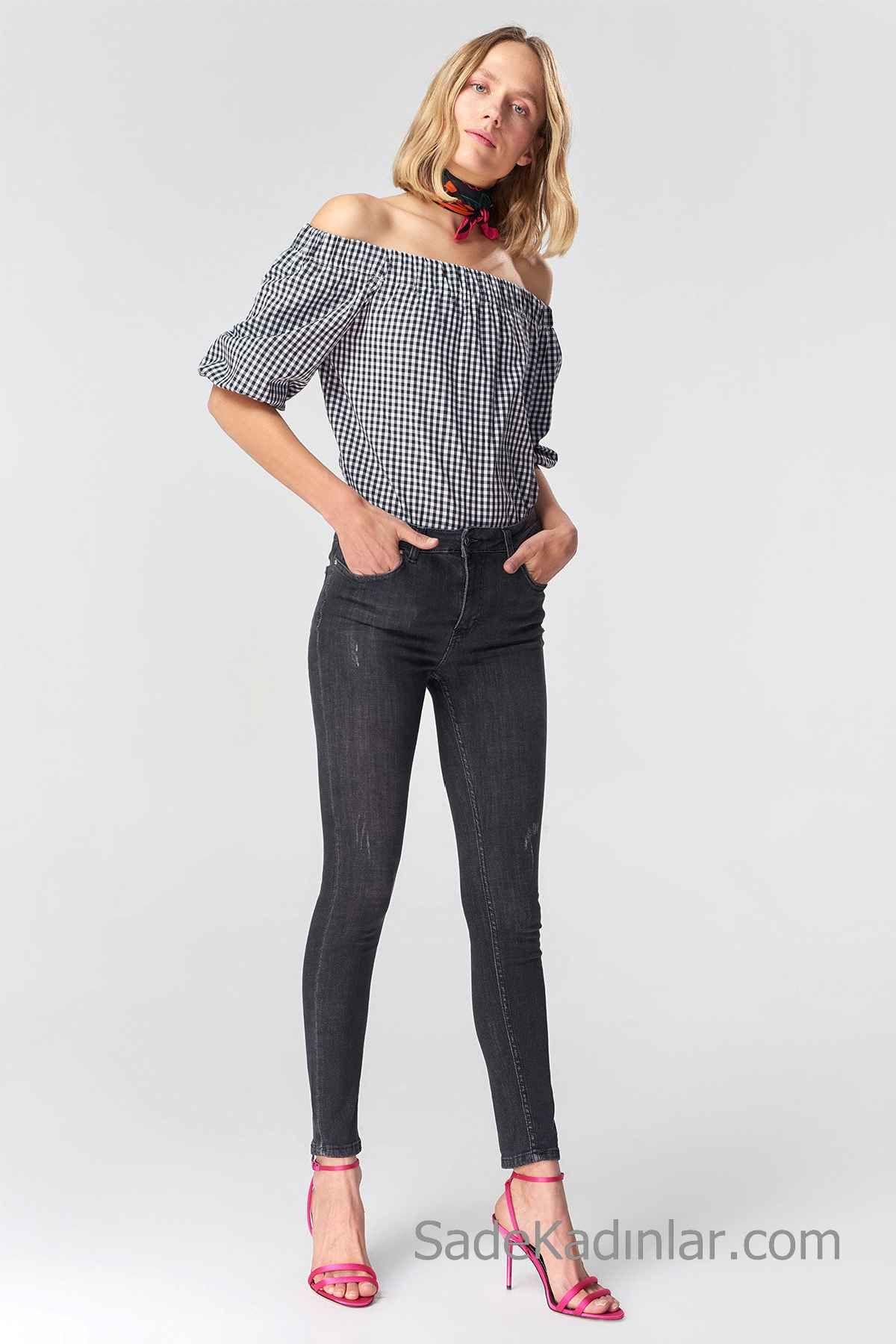 5 Trend Bayan Kareli Gömlek Kombini 2019