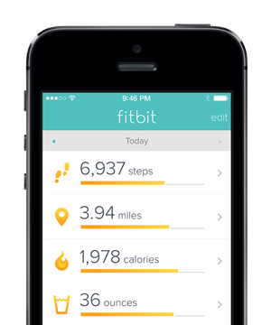 If you have an iPhone 5s and the latest Fitbit app, you're