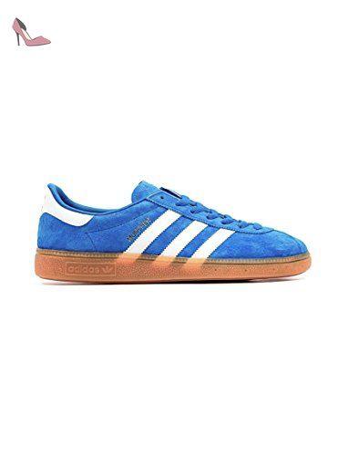 Baskets Adidas Munchen Bleu 41 1 3 Bleu - Chaussures adidas ( Partner-Link 58c7843466f