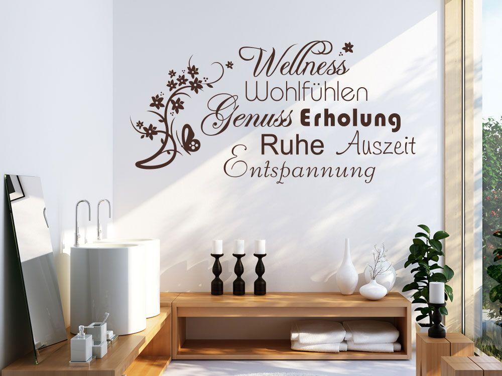 Wandtattoo mit Wortwolke Wellness für das Badezimmer Wandtattoos - Wandtattoos Fürs Badezimmer