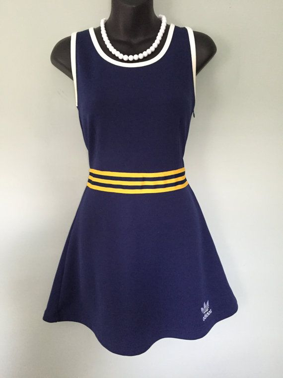 Super Cute Rare Vintage Adidas 80 39 S Trefoil Tennis Dress Vintage Outfits Tennis Dress Clothes