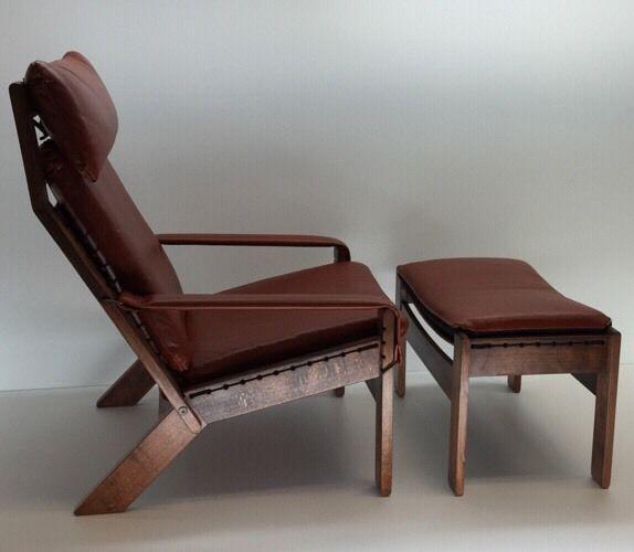 Rare Westnofa Rosewood Lounge Chair Ottoman Mid Century Modern Norway