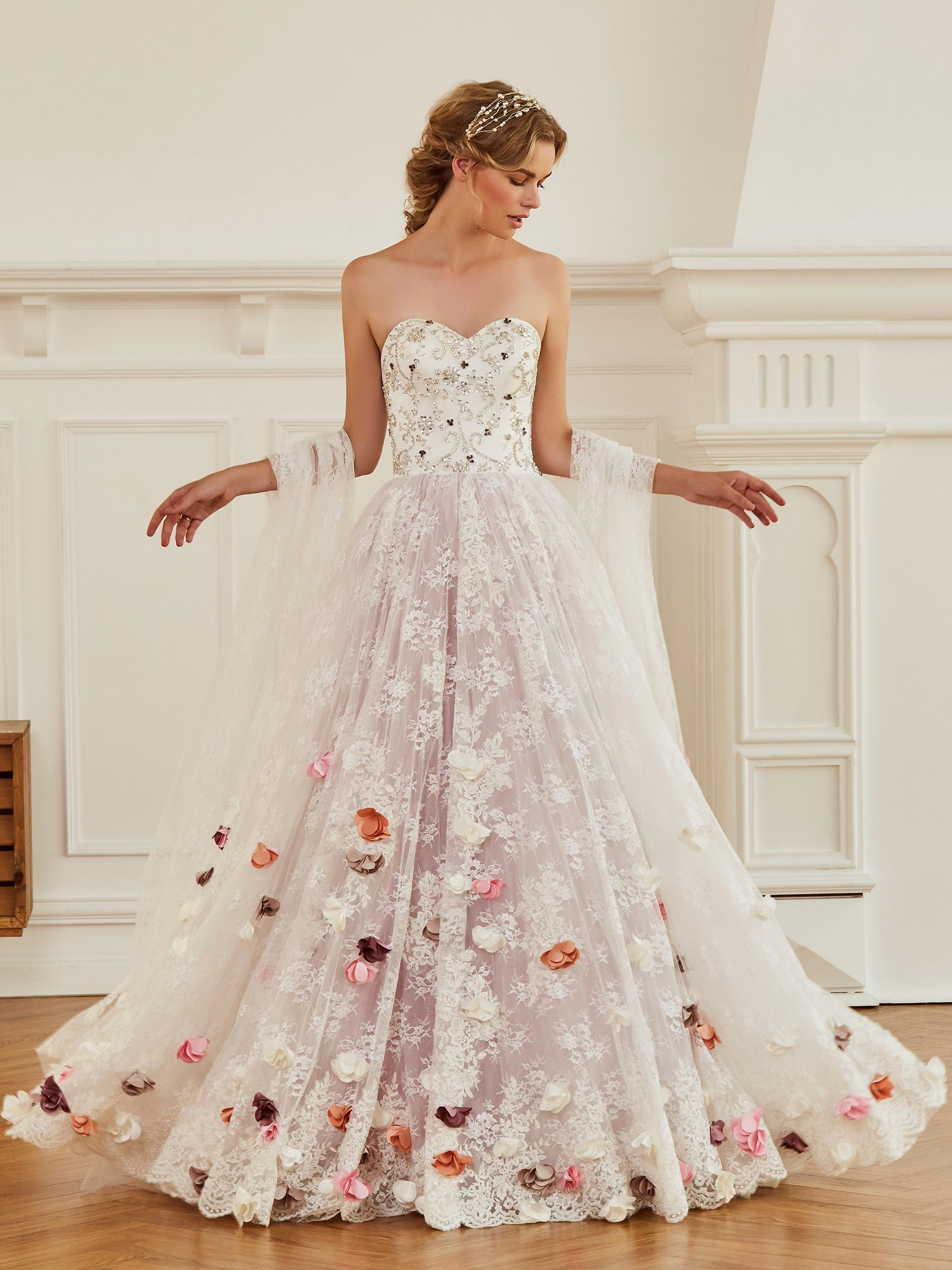 wedding dress with colored flowers off 18   medpharmres.com