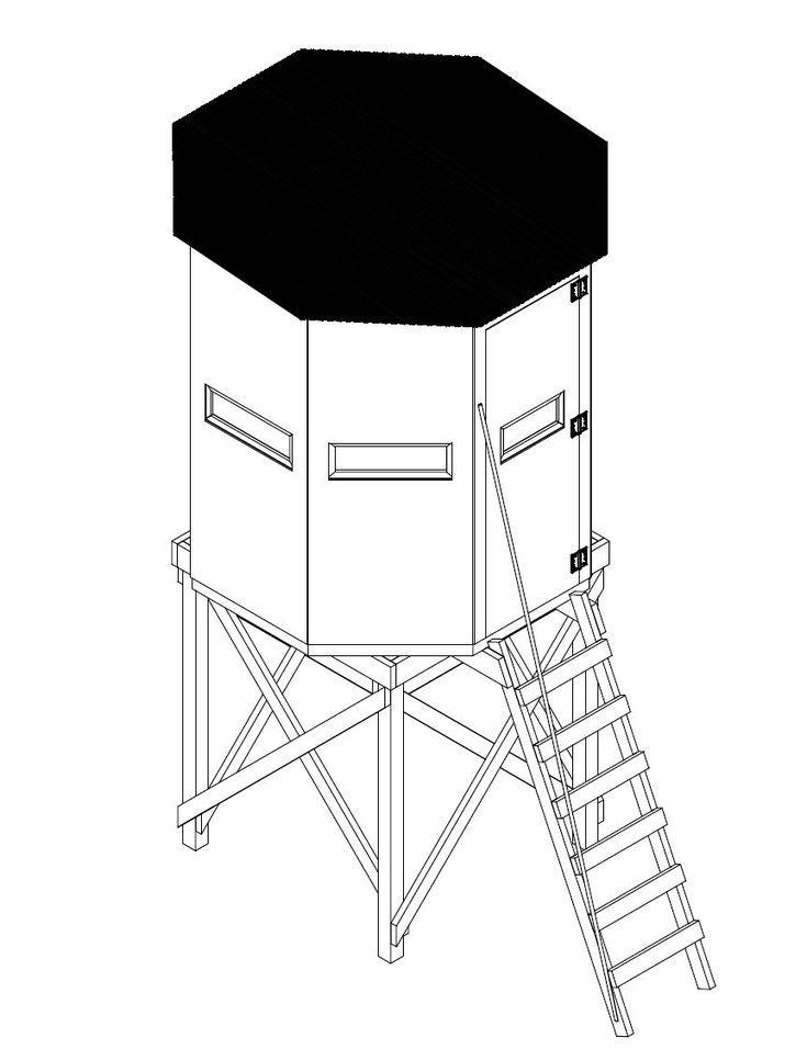 11 free diy deer stand plans hunting deer stand plans. Black Bedroom Furniture Sets. Home Design Ideas