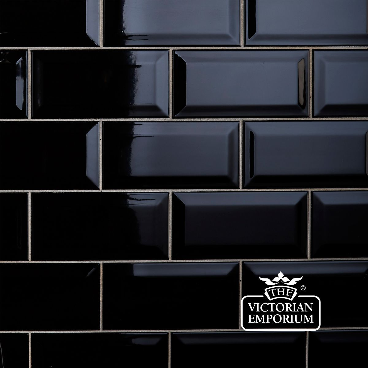 Bevel wall tiles 100x200mm black for my fireplace makeover buy bevel wall tiles black interior ceramic wall tiles bevel wall tiles perfect for victorian kitchens and bathrooms dailygadgetfo Gallery