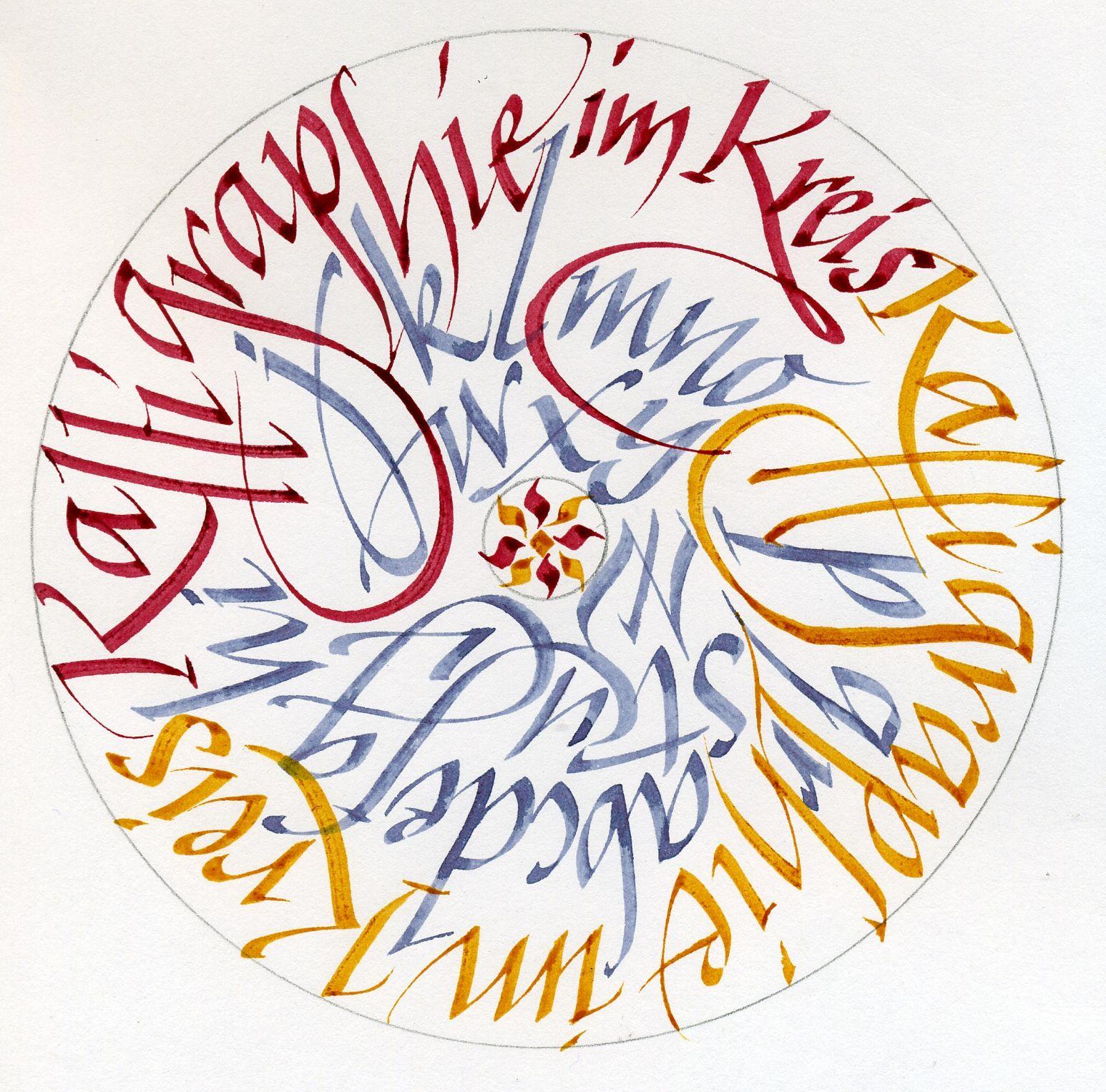 von schrift art roland stieger Calligraphy