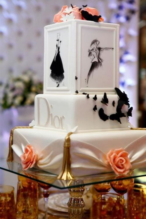 Christian Dior Fashion Luxury Cake Paris