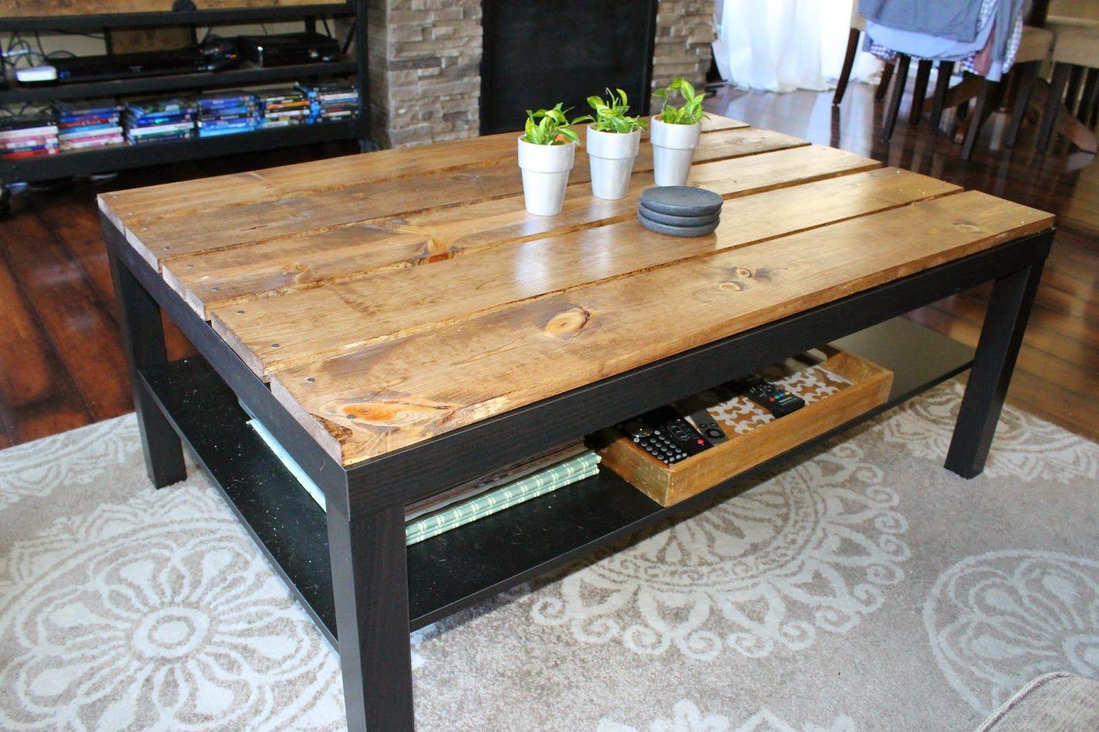 The Weekender Wife IKEA Coffee Table Hack Ikea lack