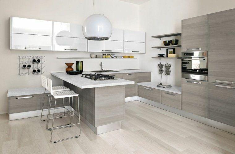 Plan de travail cuisine moderne en pierre et bois | Küche