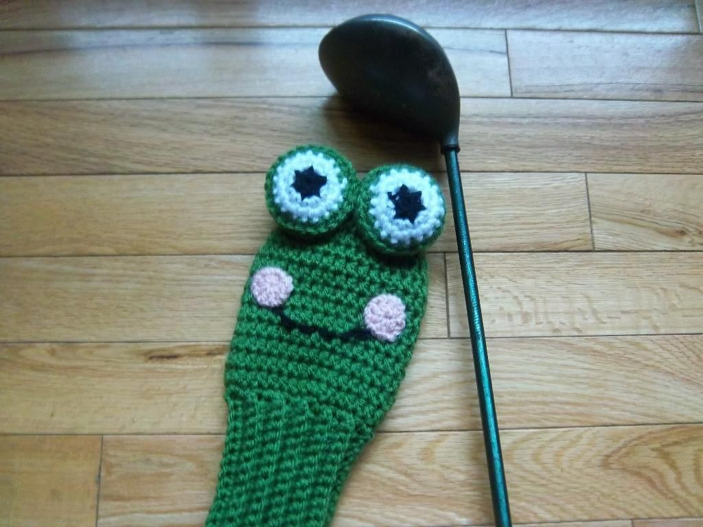 Frog golf club cover uxui designer crocheting patterns and spikes frog golf club cover bankloansurffo Images