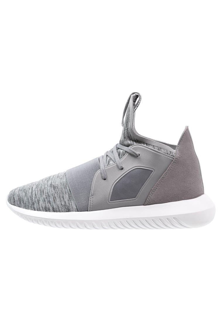 adidas Originals TUBULAR DEFIANT - Korkeavartiset tennarit - grey/core white - Zalando.fi