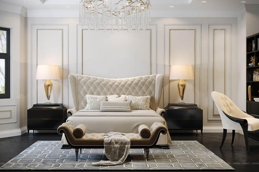غرف نوم تركي بتصاميم ديكور مودرن تخطف القلوب ديكورات أرابيا Transitional Bedroom Design Luxury Bedroom Design Bedroom Design Trends