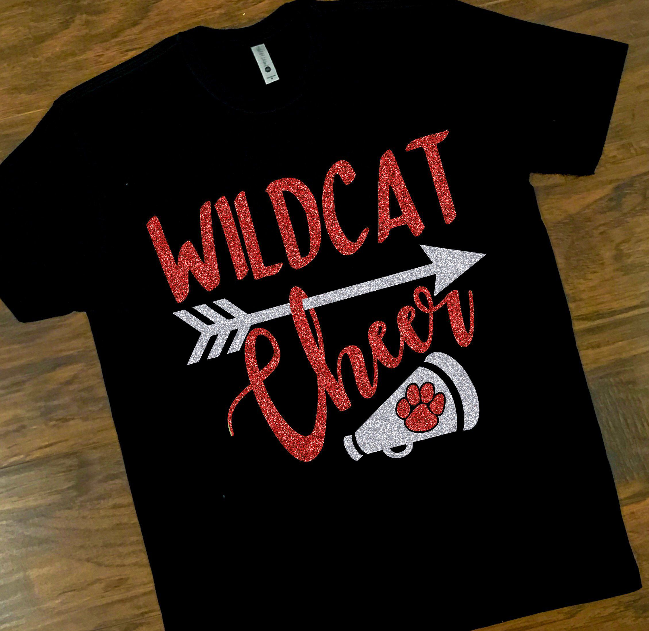 Küchendesign-logo school spirit wildcat cheer tee wildcat cheerleader tee custom