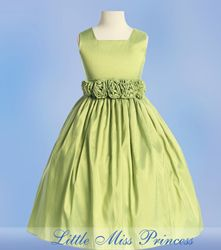 Green Flower Girl Dresses, Green Jr. Bridesmaid Dress, Little ...