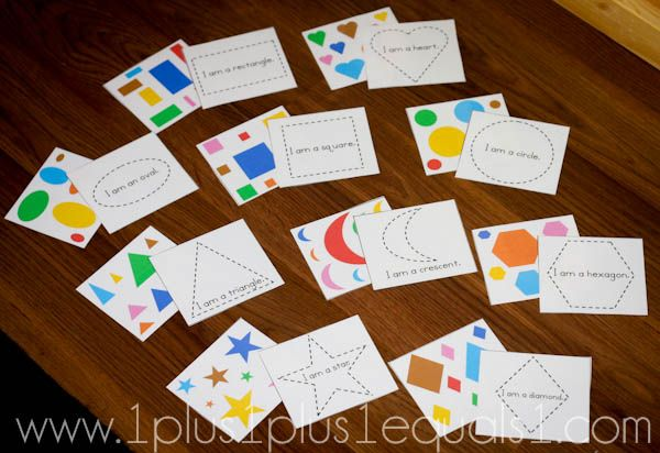 Here's a set of simple shape matching cards.