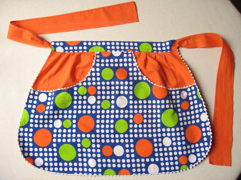 Tablier De Cuisine 70 S Demi Tablier A Pois Orange Et Vert Pomme Cuisine Retro Cuisine Pop Tablier Vintage 70 S Ling Orange House Vintage House Apron