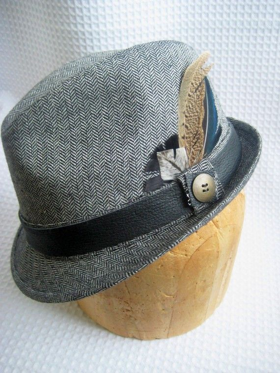 98647646811f7 Chester Men s Fedora by Love Charlie with leather band and rare feathers.  Great hat.