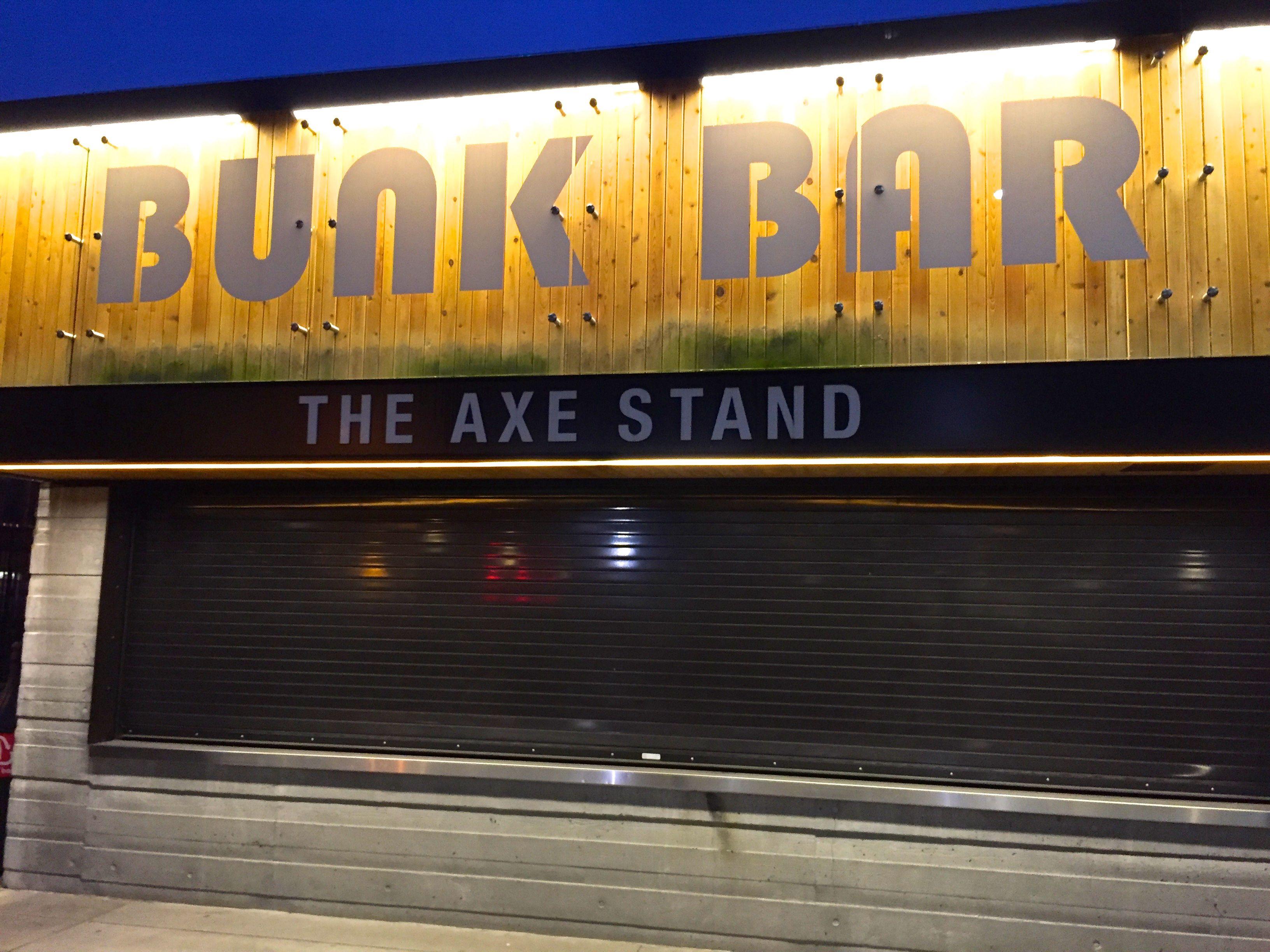 Bunk bar signage Bar signage, Portland timbers