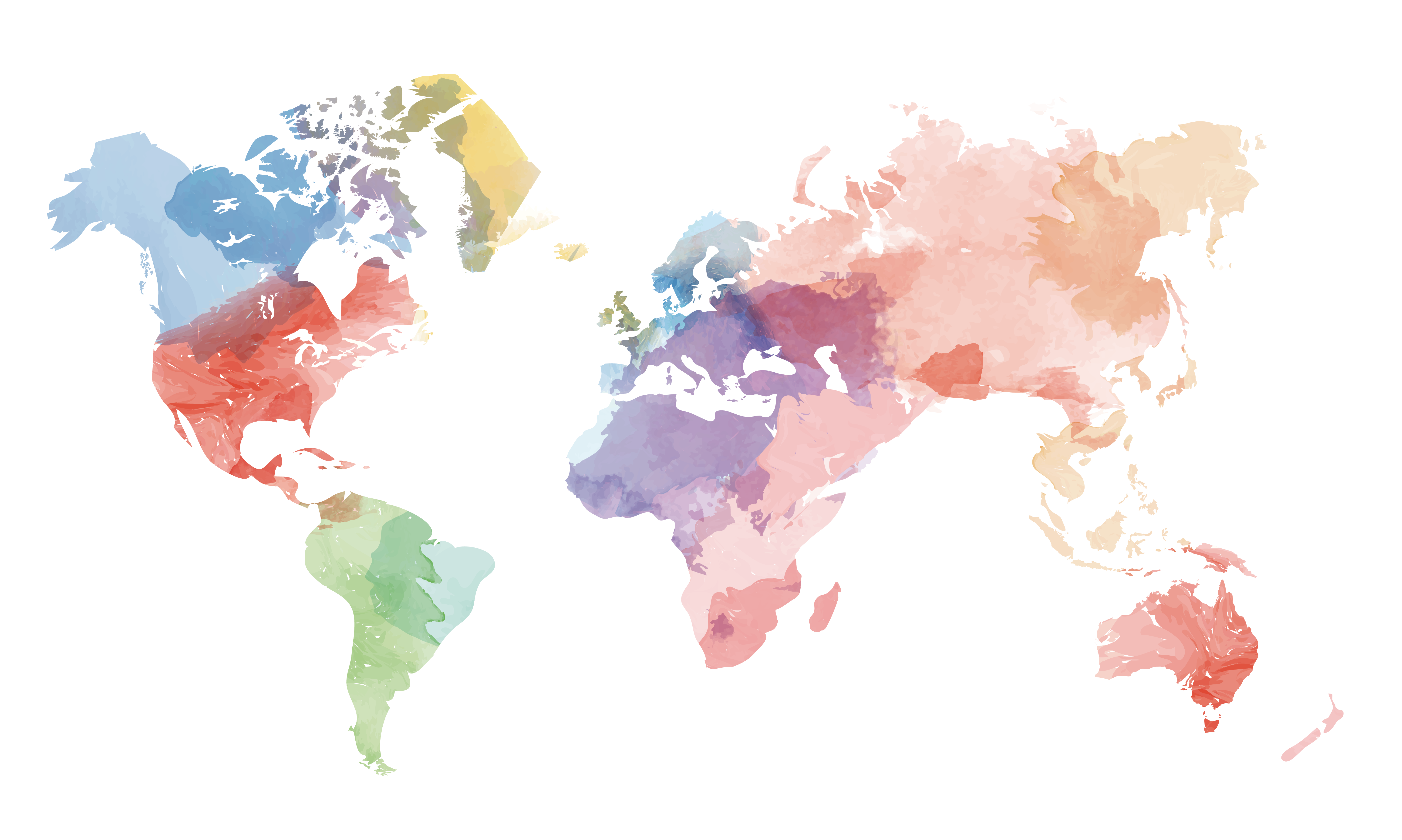 Globe United States World Map Vector Creative Watercolor Within