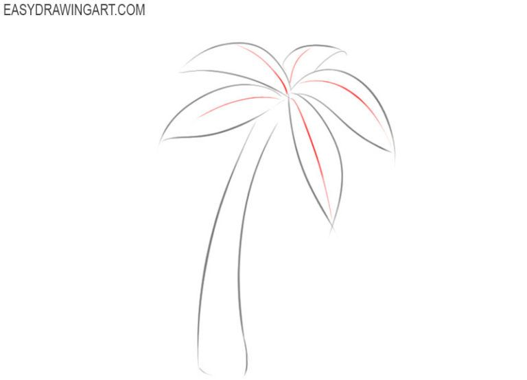 How To Draw A Palm Tree Easy Drawing Art In 2021 Palm Tree Drawing Palm Tree Drawing Easy Palm Tree Sketch