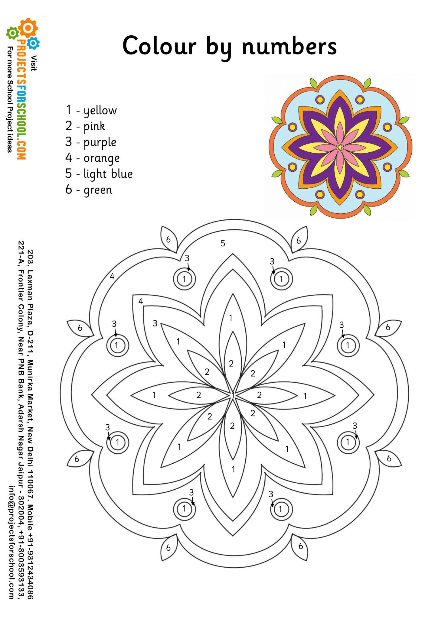 Rangoli - Color By Numbers - Free download | Rangoli Making for ...