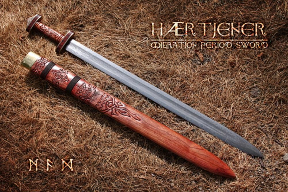 Hærtjener Pattern Welded Migration Period Sword Forged By David Cool Pattern Welded Sword