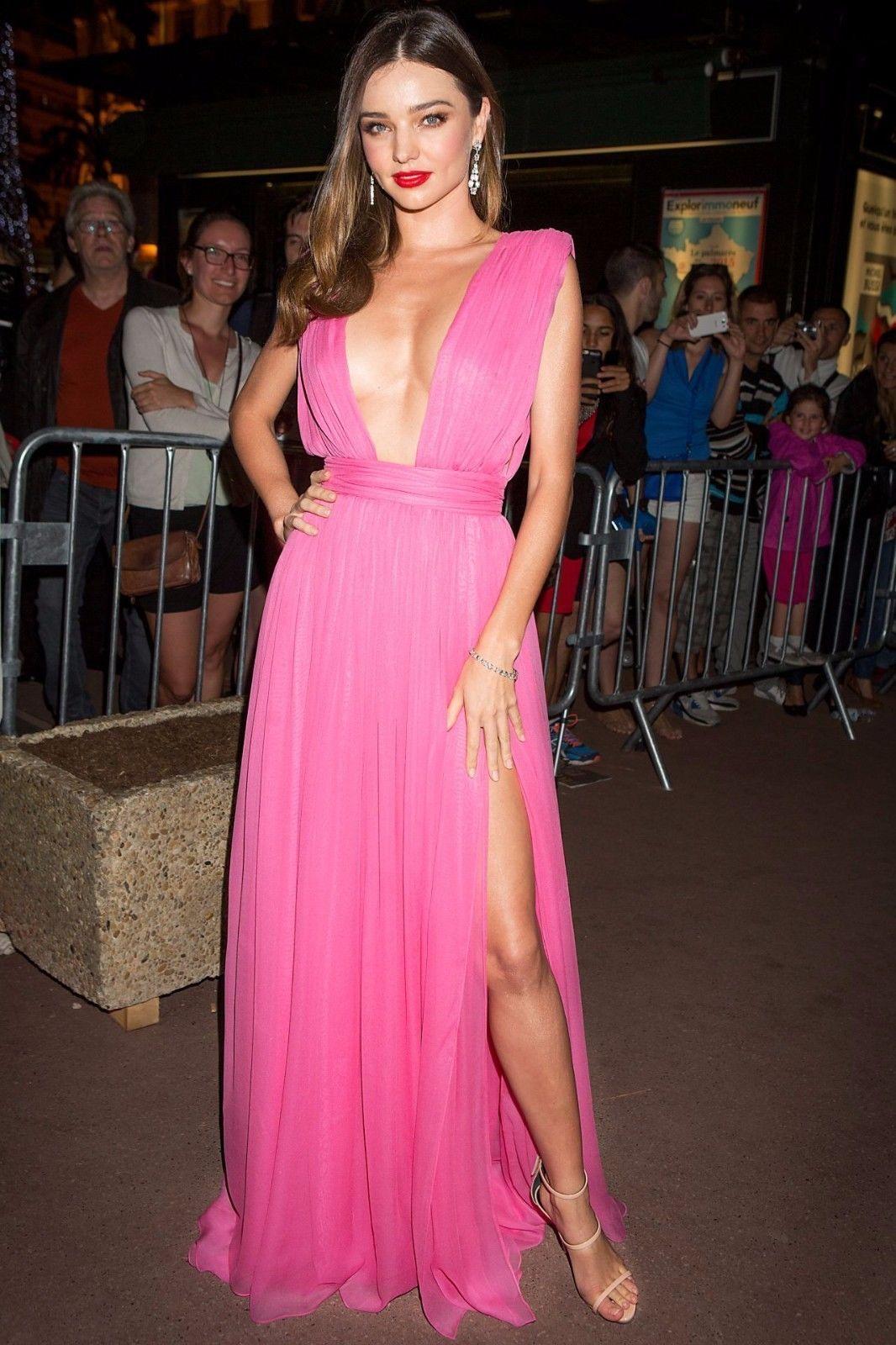 Irisan Fuchsia Pink Dress Celebrity Prom Gown Chiffon Formal Party ...