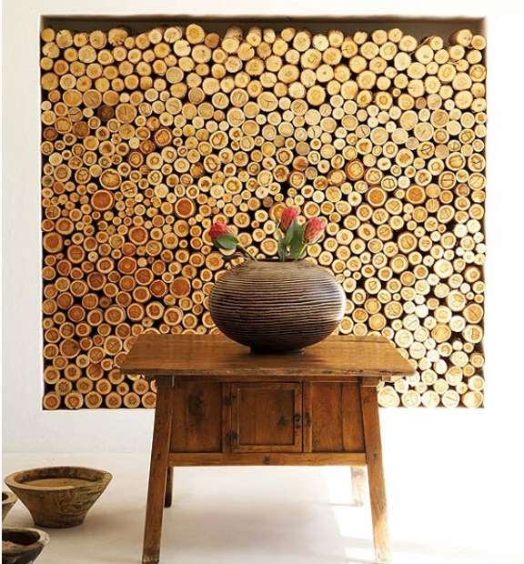 Logs Make For An Impressive Feature In Any Interior. Create A Similar Stack  With Decorative