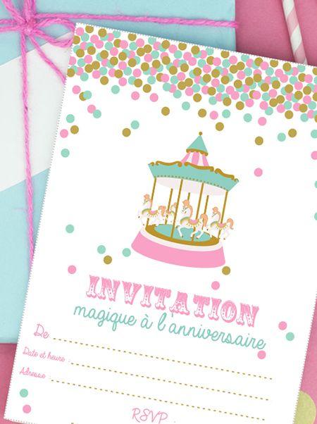 Invitation Anniversaire Fête Foraine à Imprimer Kids Party Ideas