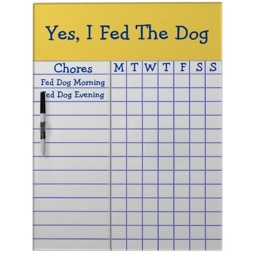 yes i fed the dog kids weekly chores check list lg dry erase board christmas gifts for kids. Black Bedroom Furniture Sets. Home Design Ideas
