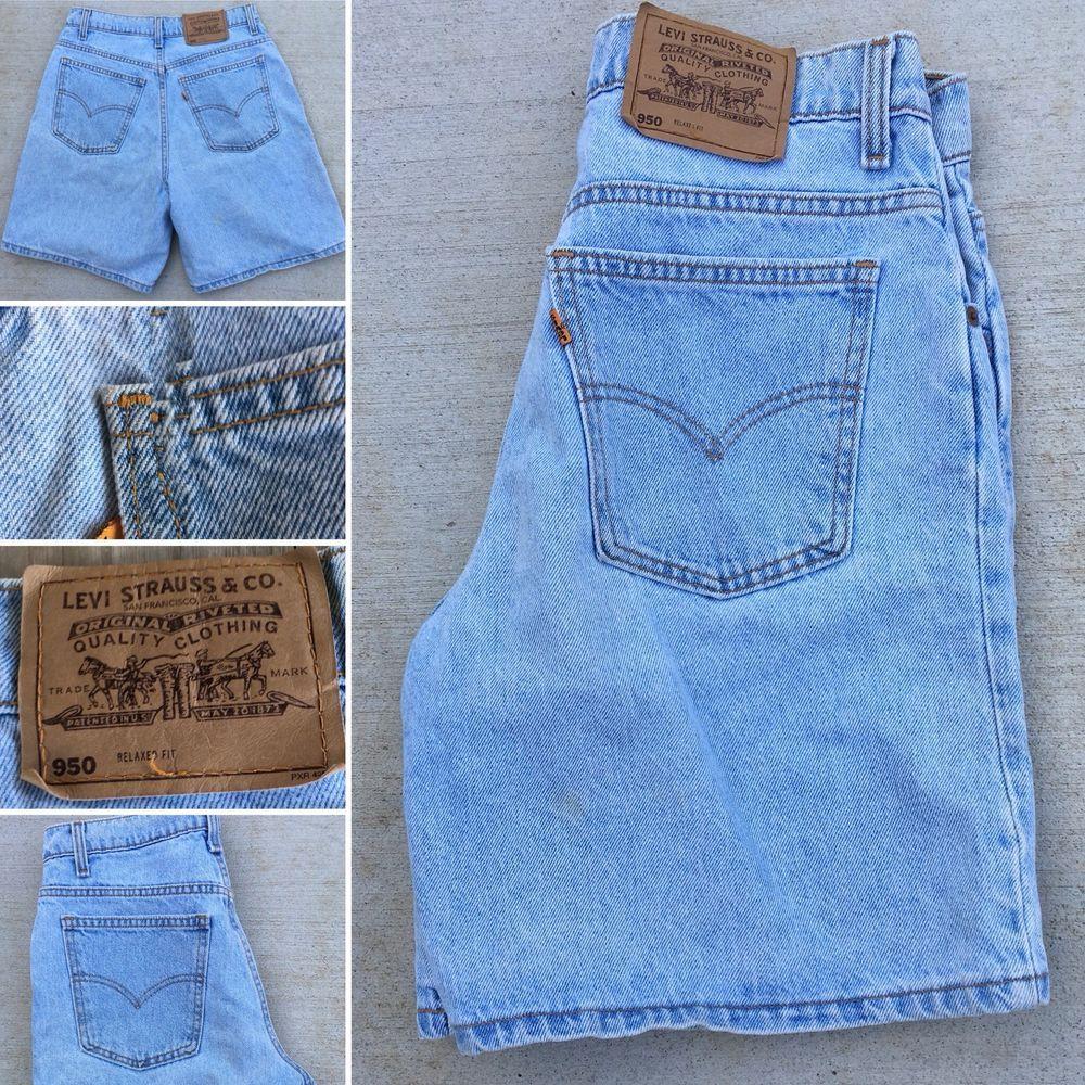 Vintage Levis Denim Shorts 550 Relaxed Fit Made In Usa 11 31 Waist Orange Tab Ebay Levis Denim Shorts Vintage Denim Denim