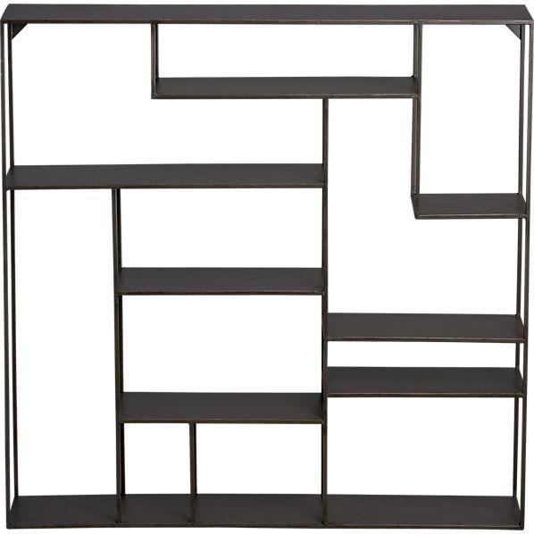 storage furniture alcove wall shelf cb2 metal shelves metal bookshelf metal