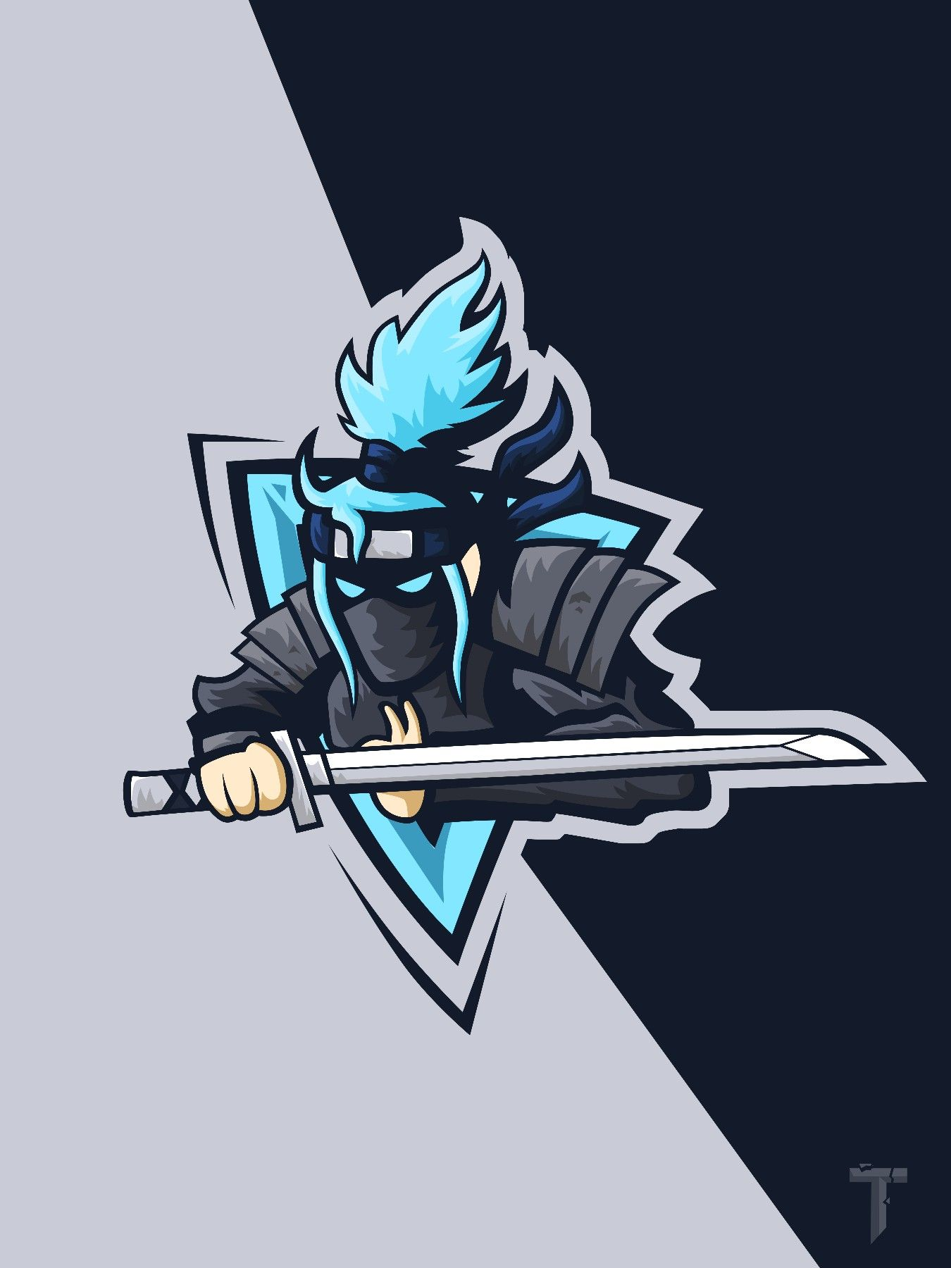 Shinobi mascot logo backgroung esports wallpaper png