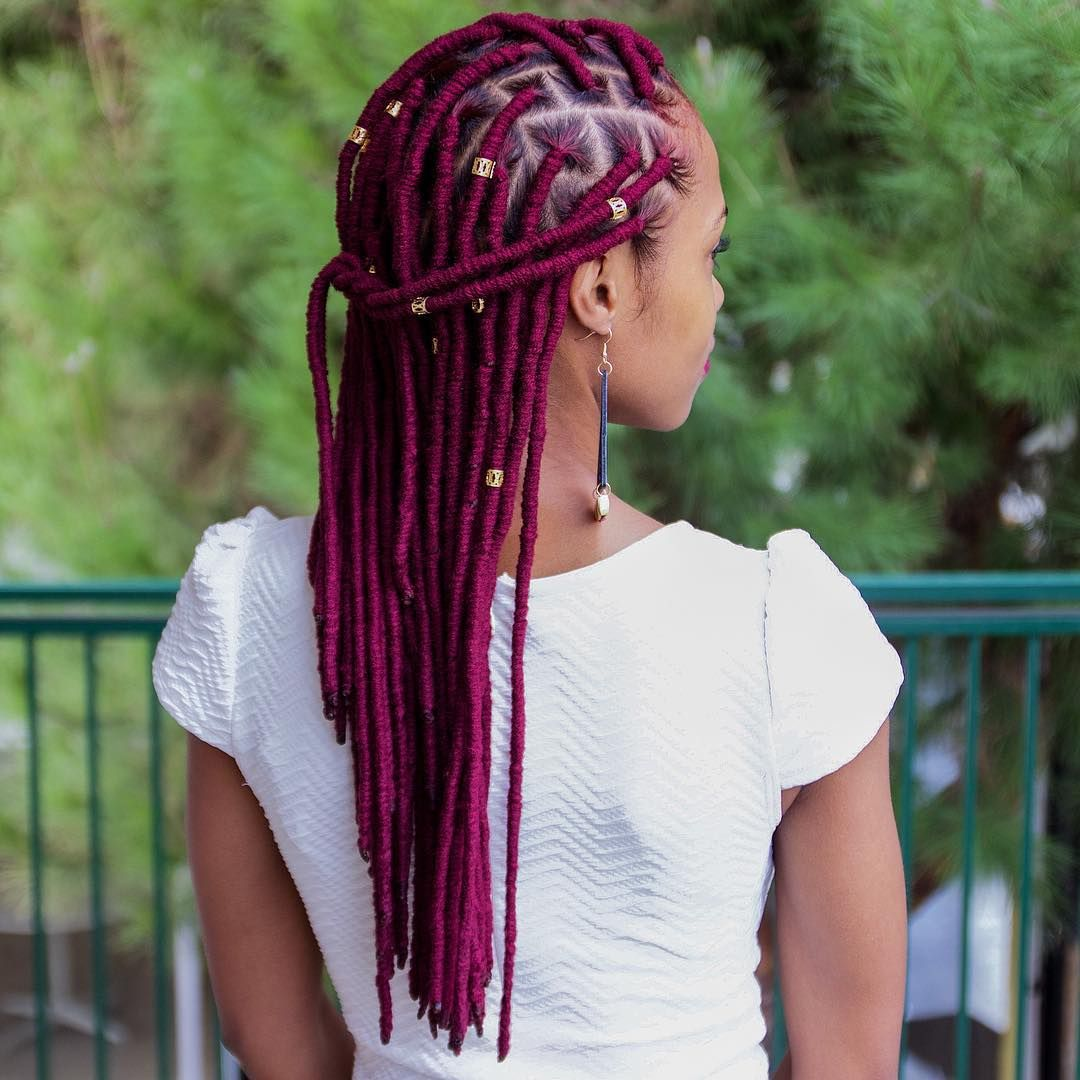 40 Fabulous Funky Ways To Pull Off Faux Locs In 2020