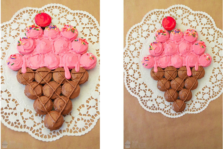 Saras Cupcakery: Eis oder Cupcakes? {Pull-Apart Cupcakes}