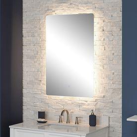 Shop Scott Living Canterbury 24 In X 36 In Chrome Rectangular Frameless Bathroom  Mirror